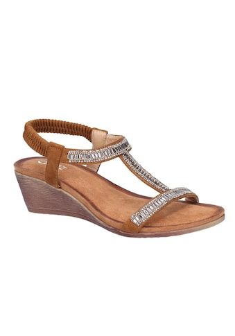 Divaz Sandale »Damen Pearl Elastik Keil Wildleder« kaufen