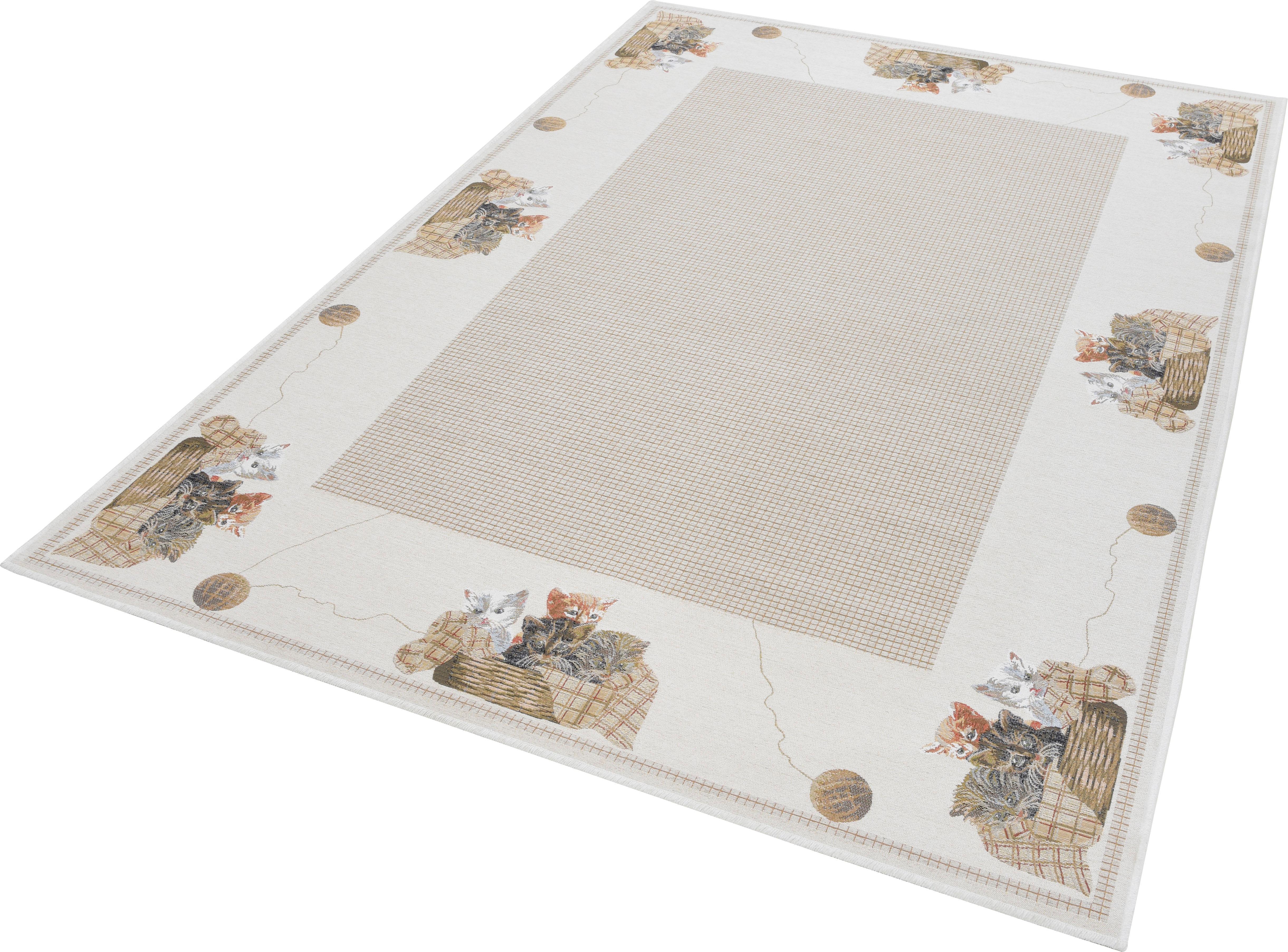Teppich Flomi Kitten THEKO rechteckig Höhe 4 mm maschinell gewebt