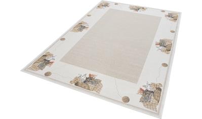 Teppich, »Flomi Kitten«, THEKO, rechteckig, Höhe 4 mm, maschinell gewebt kaufen
