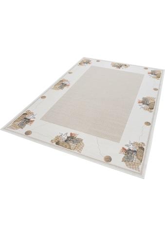 THEKO Teppich »Flomi Kitten«, rechteckig, 4 mm Höhe, mit Bordüre und niedlichem... kaufen