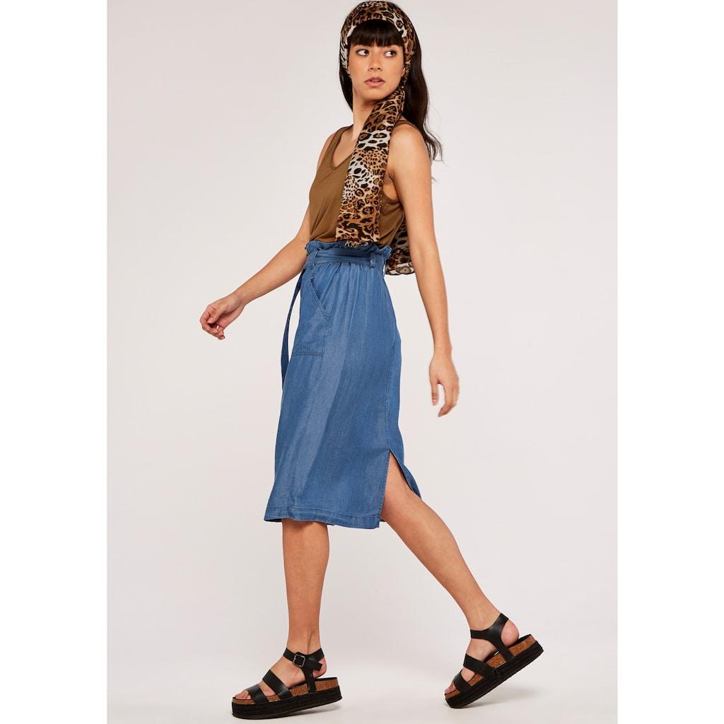 Apricot Jeansrock »Denim Paperbag Button Down Skirt«, (mit Bindegürtel), mit Bindegürtel