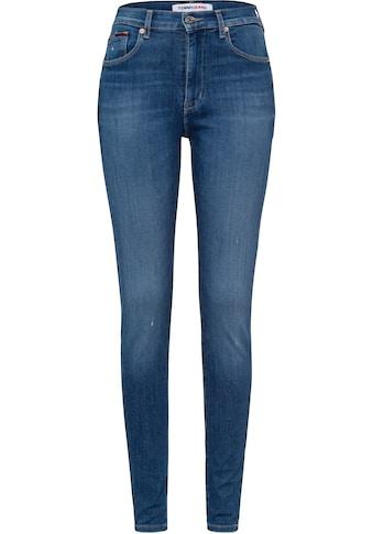 Tommy Jeans Skinny-fit-Jeans »SYLVIA NKL HR SPR SKNY BE181 GRS«, mit leichten... kaufen