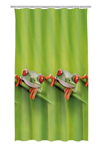 KLEINE WOLKE Duschvorhang »Frog«, 180 x 200 cm, inkl. Besfestigungsringen kaufen