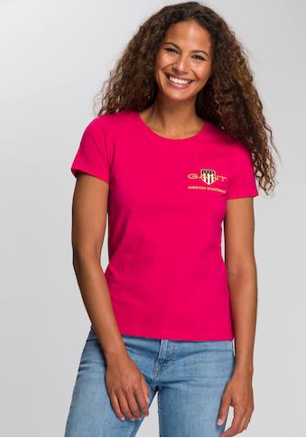 Gant T-Shirt, mit Marken typischem Shield und Logo-Stickerei kaufen