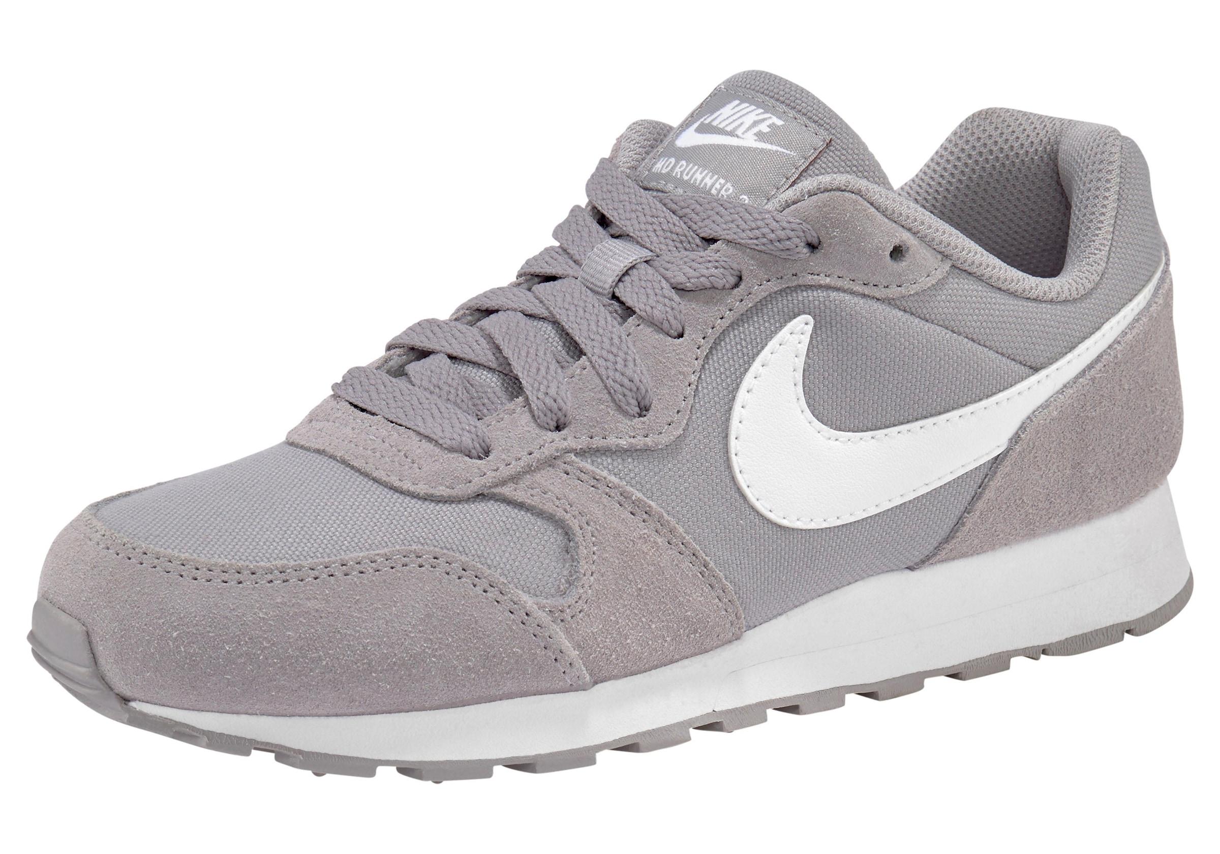 md runner sneakers low weiß