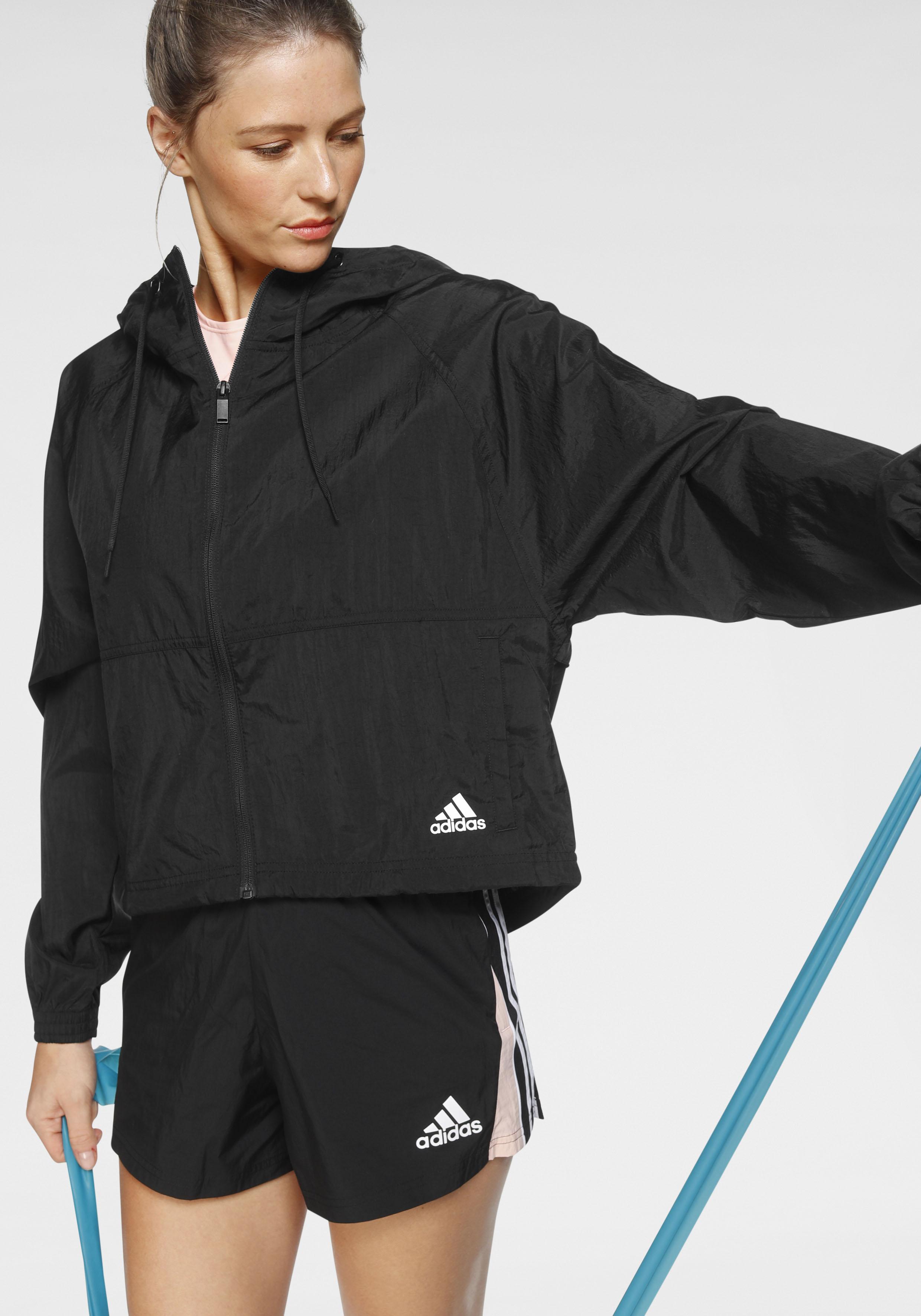 adidas Performance Windbreaker BATCH OF SPORTS WINDBREAKER JACKET schwarz Damen