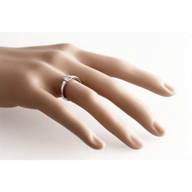 goldmaid Damenring Verlobungsring 585/- Weißgold 1 Brillant 0,08 ct.