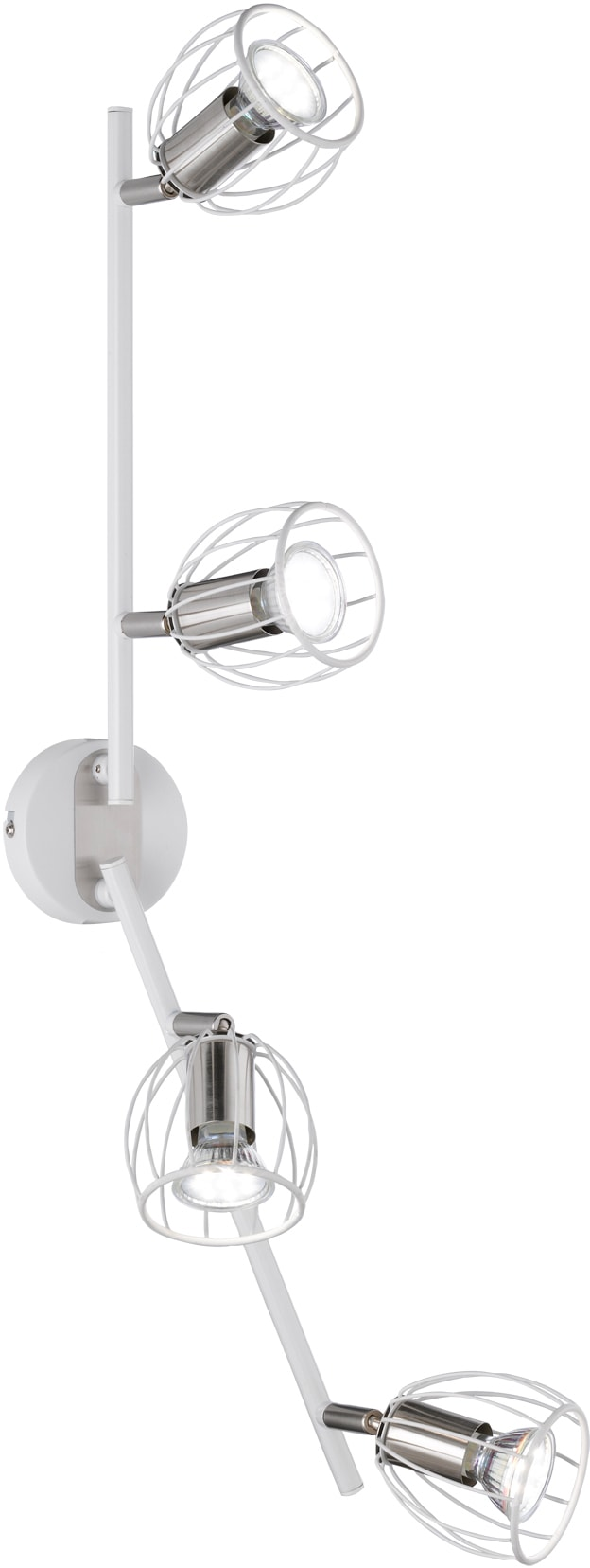 TRIO Leuchten LED Deckenleuchte EVIAN, GU10, LED Deckenlampe