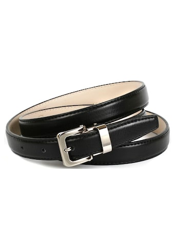 Anthoni Crown Ledergürtel, genarbt, in schmaler Form kaufen