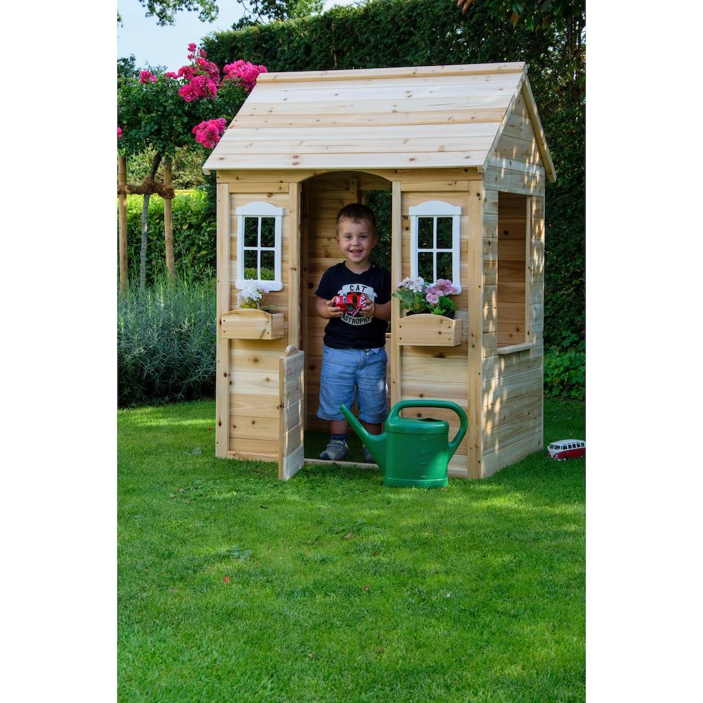 dobar Spielhaus, BxTxH: 91x107x145 cm, mit 2 kleinen Pflanzkästen