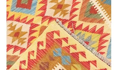 morgenland Wollteppich »Kelim Afghan Teppich handgewebt orange«, rechteckig, 4 mm... kaufen