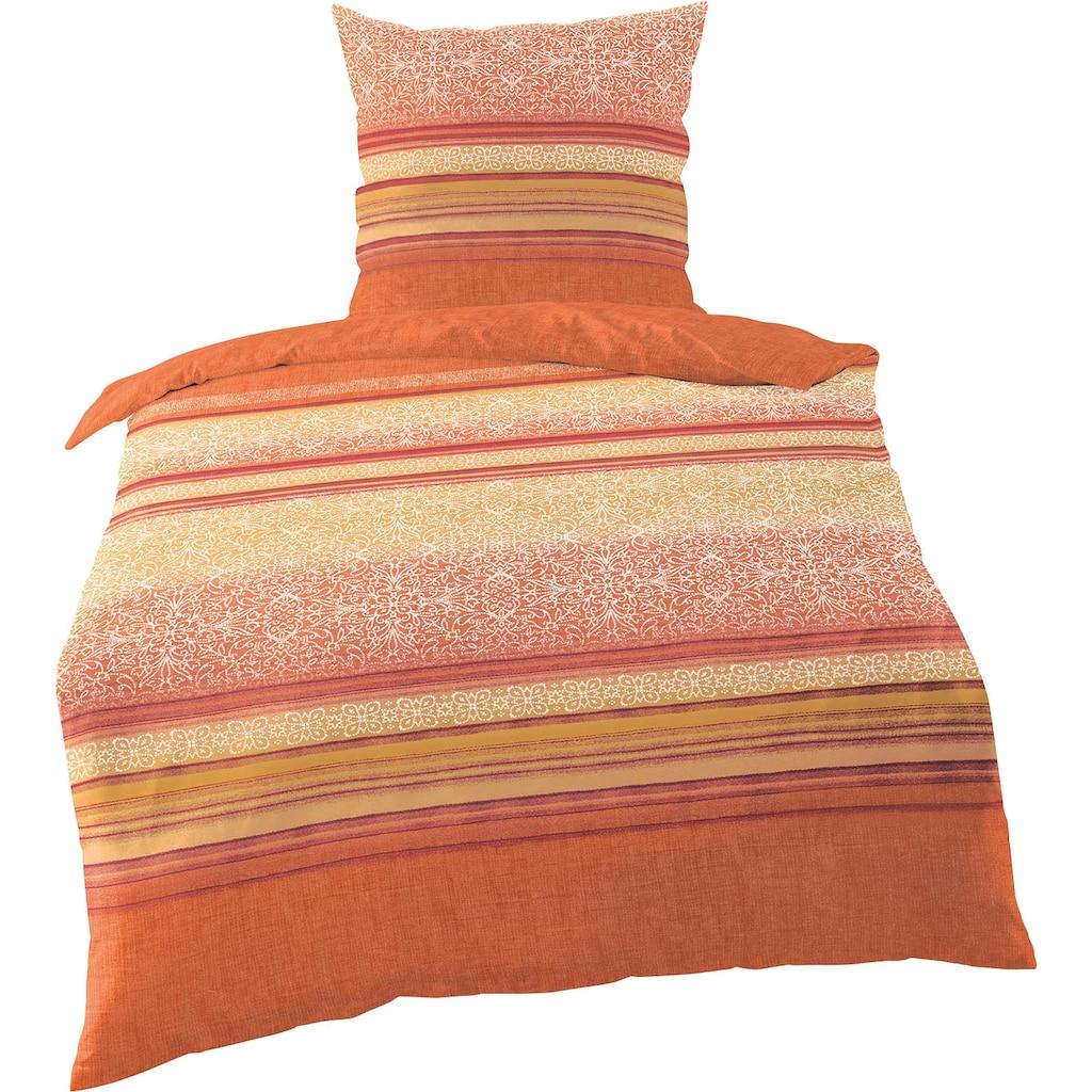 BIERBAUM Bettwäsche »Ornament Stripes«, mit Bordüren