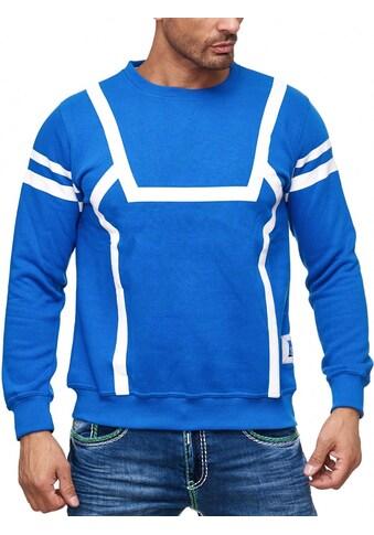 Rusty Neal Sweatshirt mit markantem Streifen - Muster kaufen