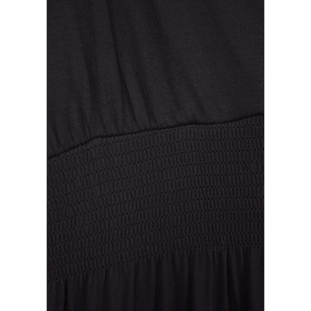 LASCANA Maxikleid, mit verstellbarem Ausschnitt