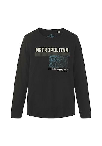 TOM TAILOR Sweater »Langarmshirt mit Print« kaufen