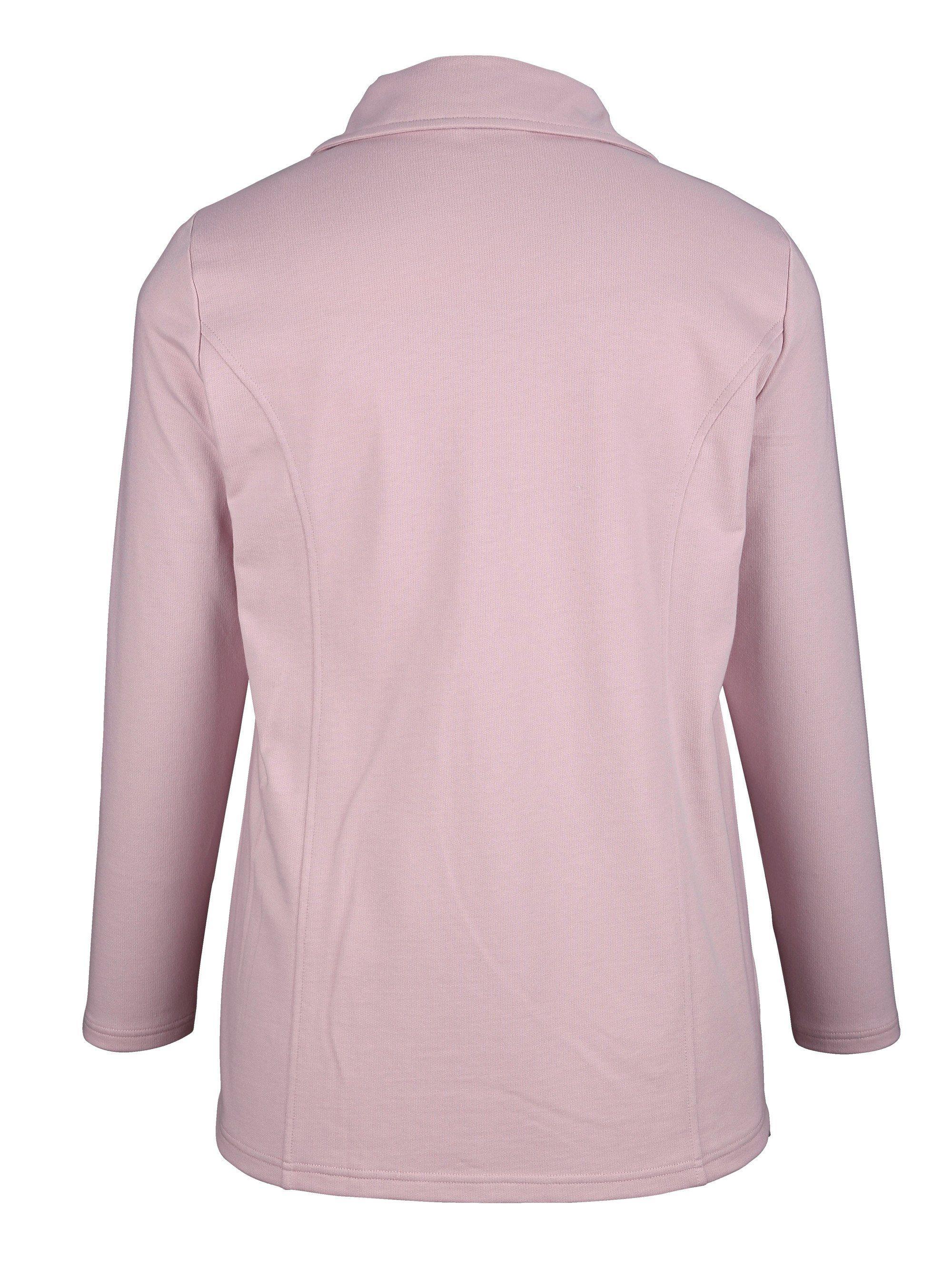 m. collection Sweatjacke mit hübschem Spitzeneinsatz | Bekleidung > Sweatshirts & -jacken > Sweatjacken | M. Collection