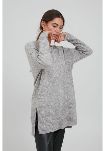 Ichi Longpullover »IHAMARA LONG LS2 20112143«, Länger geschnittener Pullover in... kaufen