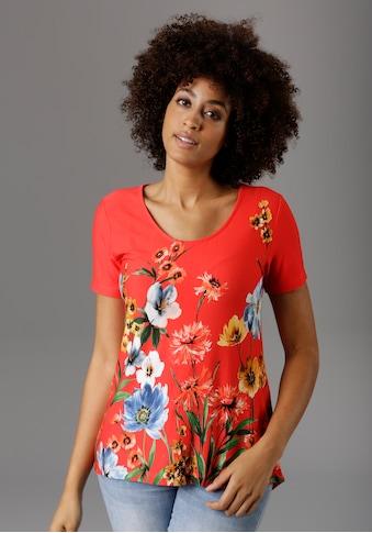 Aniston SELECTED T-Shirt, im akutellen Blumendruck - NEUE KOLLEKTION kaufen