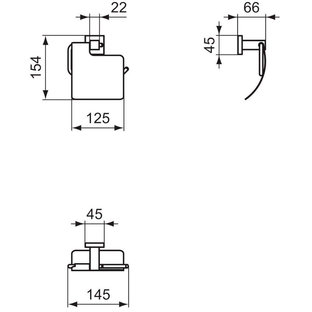 Ideal Standard Toilettenpapierhalter »Cube«, mit Deckel