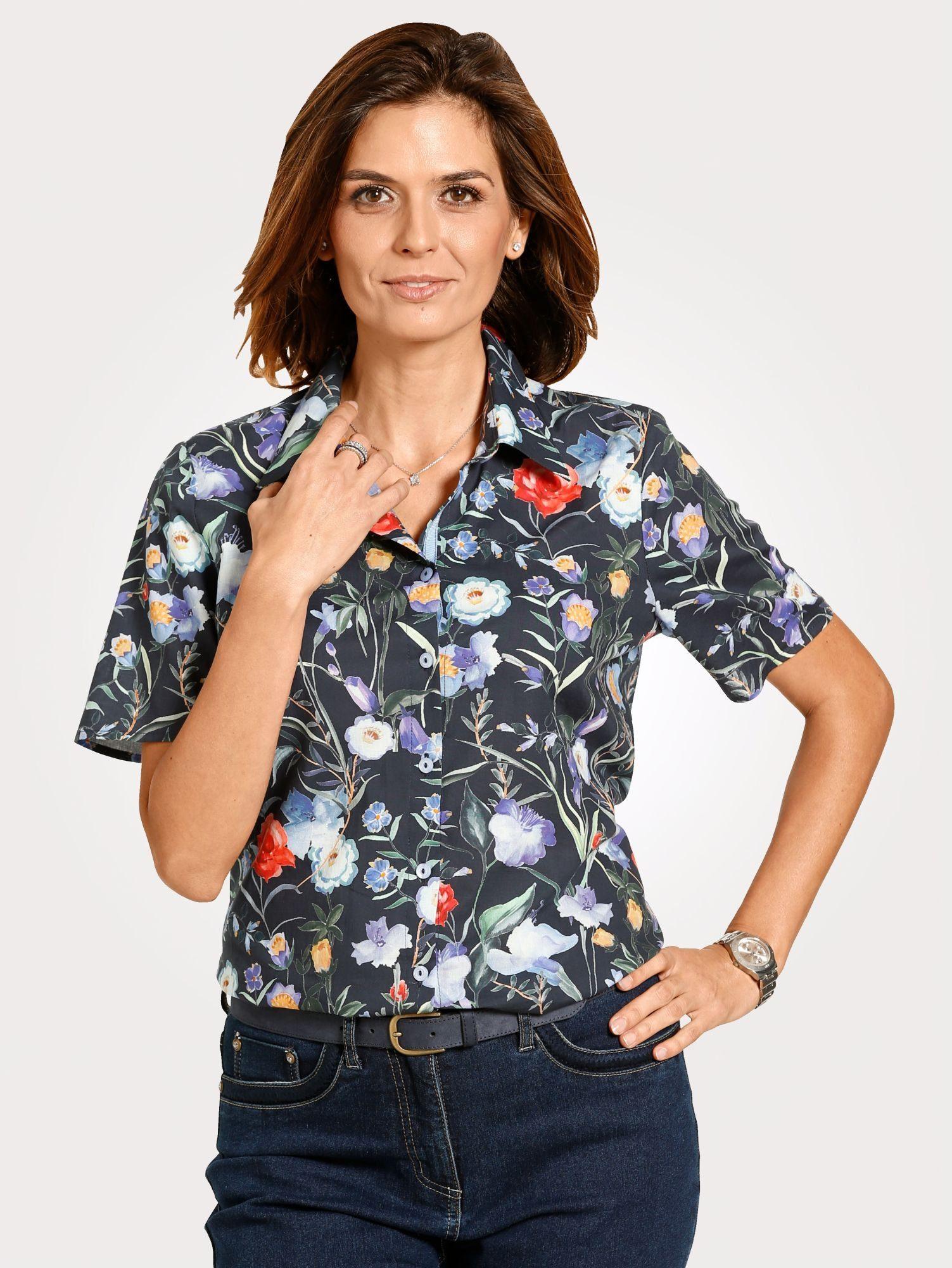 Mona Bluse mit Blumendessin