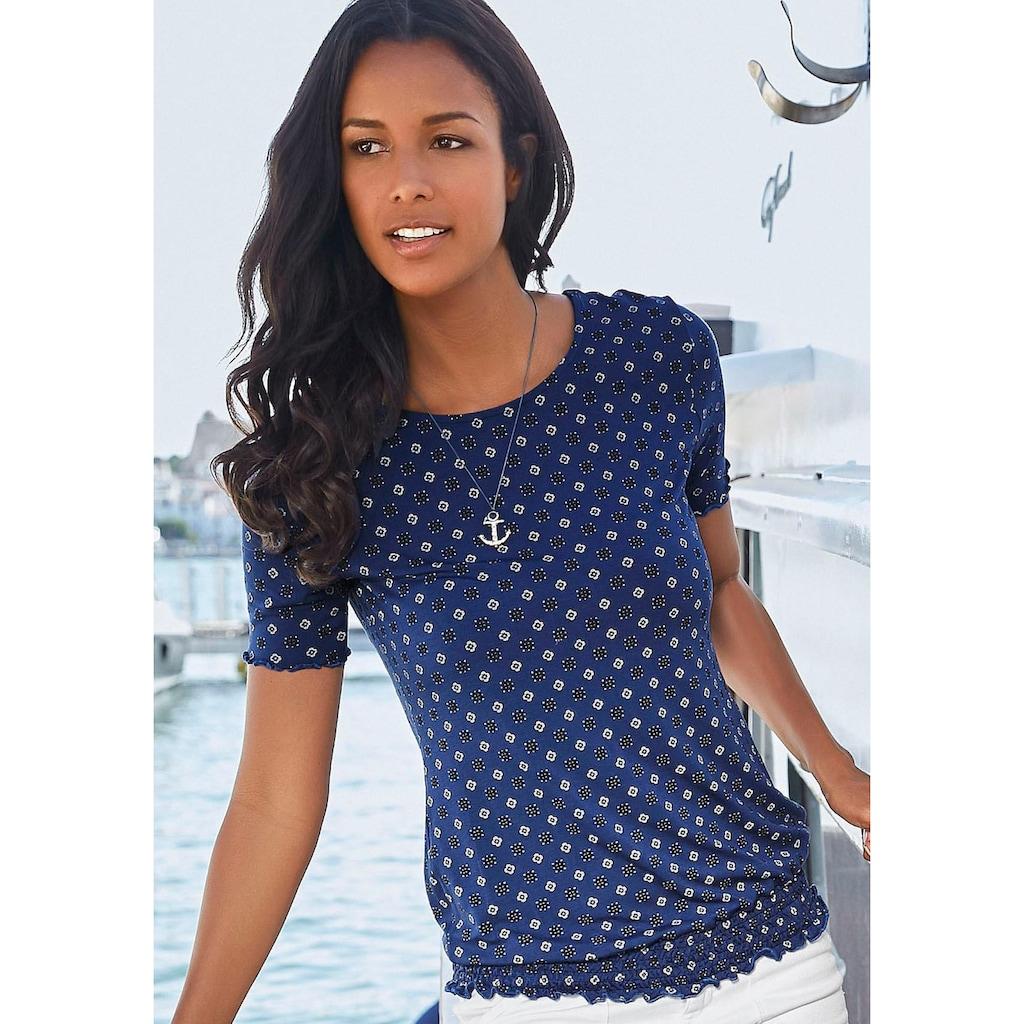Beachtime T-Shirt, mit gesmoktem Bund