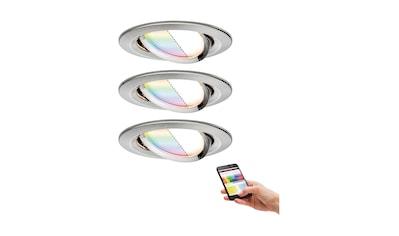 Paulmann,LED Einbaustrahler»SmartHome Coin 1,3W Eisen 3er - Set RGBW schwenkbar Steuerung per App via Bluetooth«, kaufen