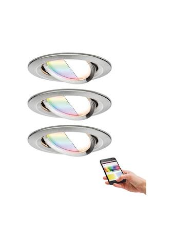 Paulmann LED Einbaustrahler »SmartHome Coin 1,3W Eisen 3er-Set RGBW schwenkbar Steuerung per App via Bluetooth«, 3 St. kaufen