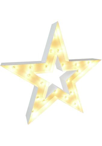 MARQUEE LIGHTS LED Dekolicht »Stern«, E14, 1 St., Warmweiß, Wandlampe, Tischlampe Star... kaufen