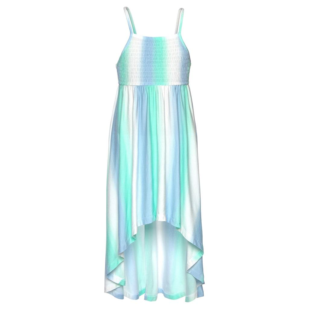 KangaROOS Vokuhila-Kleid, mit Smokeinsatz