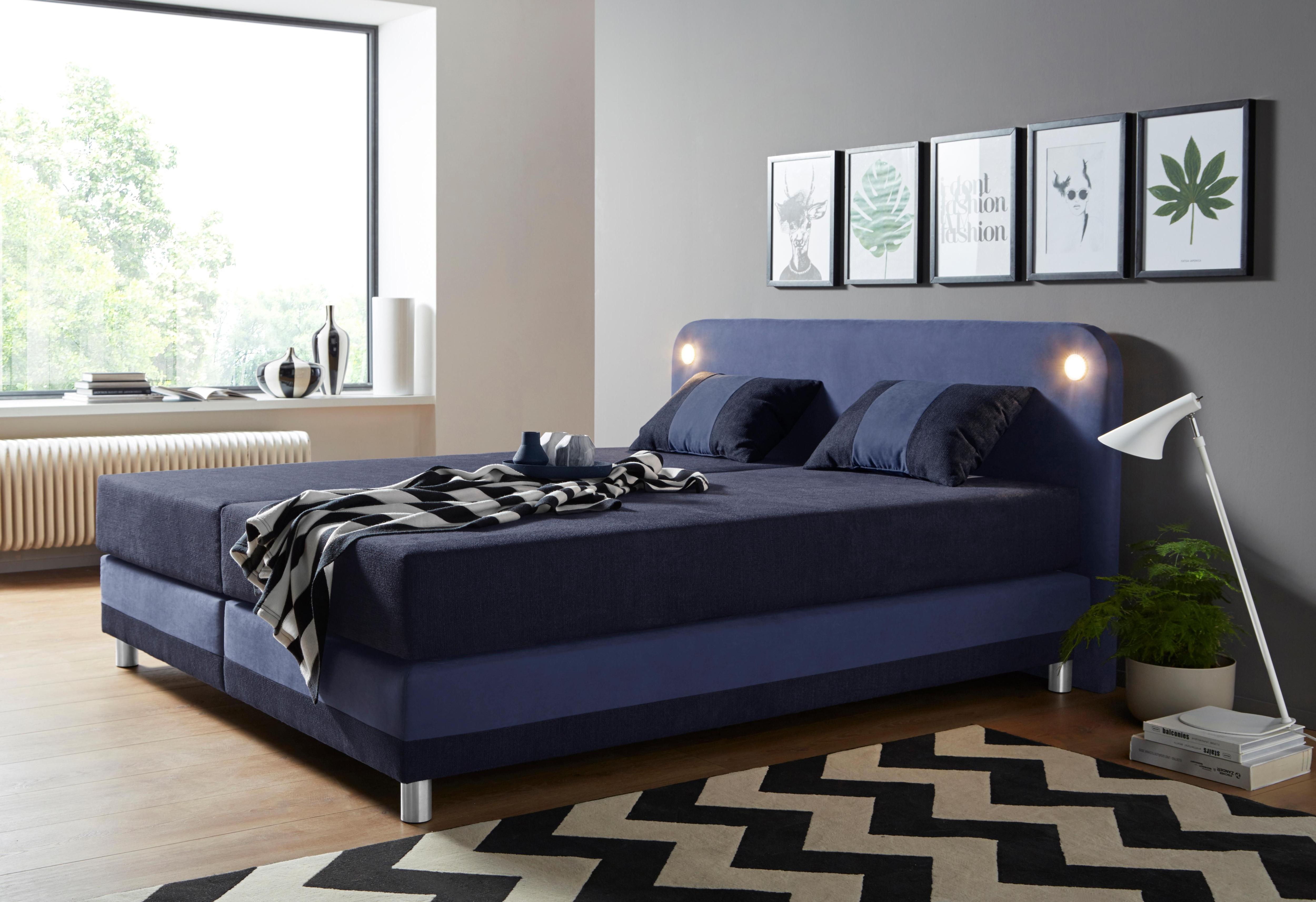 Maintal Boxspringbett inklusive LED-Beleuchtung und Kissen