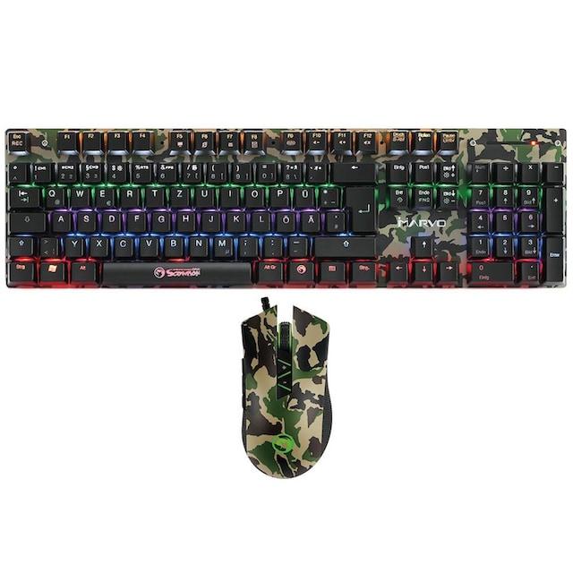 MARVO Gaming Kombi, Tastatur mit Maus »KM435 Mechanical Keyboard Mouse Combo«