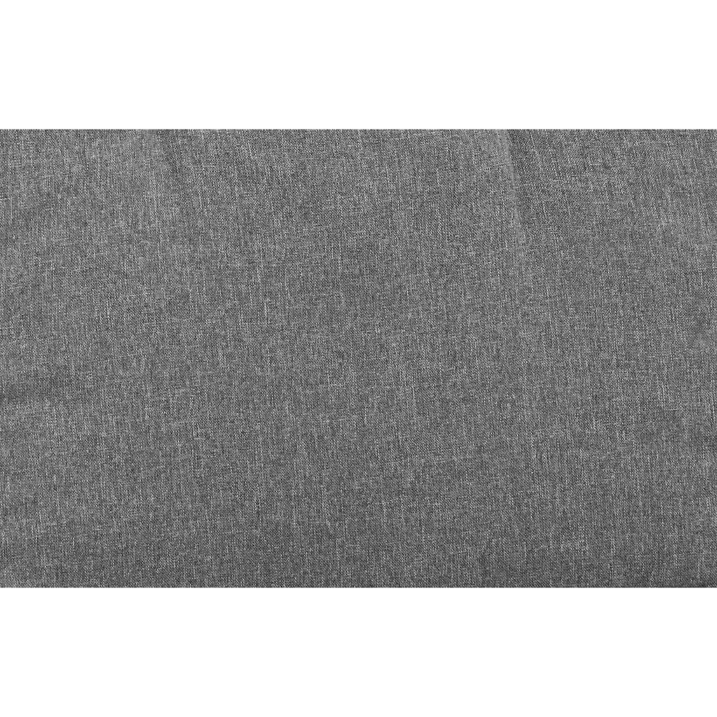 KONIFERA Hocker »Belluno«, 2er Set, Polyrattan, grau, inkl. Auflage