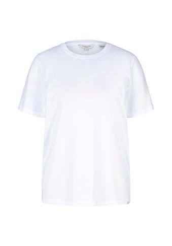 TOM TAILOR mine to five T-Shirt »Basic T-Shirt mit Bio-Baumwolle« kaufen