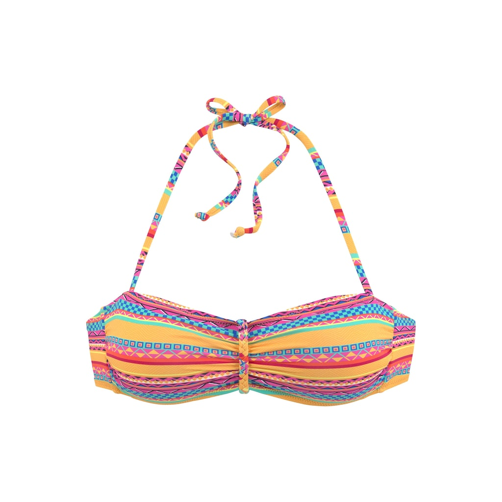 Buffalo Bandeau-Bikini-Top »Lux«, mit Flechtdetail