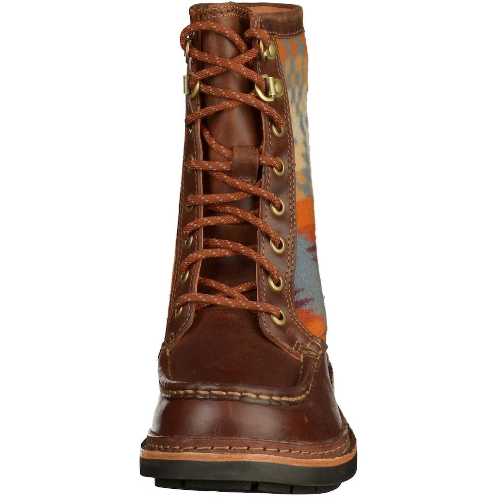 Clarks Schnürstiefelette »Leder/Textil«