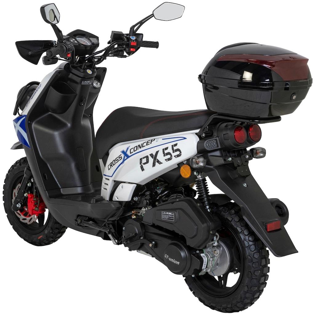 GT UNION Motorroller »PX 55 Cross-Concept«, 3 PS, 50 ccm, 45 km/h, inkl. Topcase