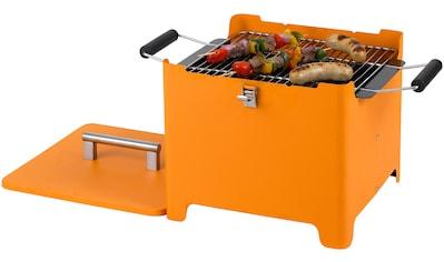 Tepro Holzkohlegrill »Chill&Grill Cube«, orange kaufen