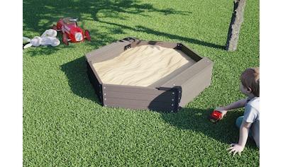 Kiehn - Holz Sandkasten 6 - eck, BxTxH: 109x109x27 cm kaufen