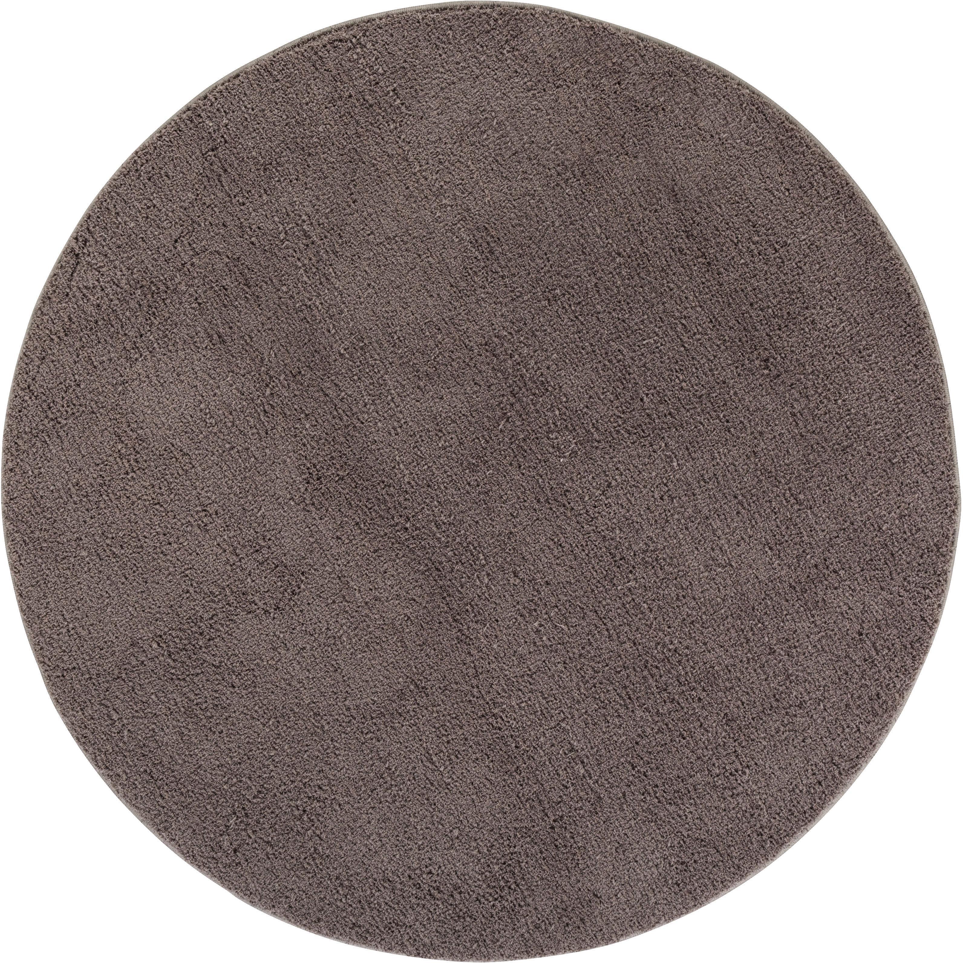 Hochflor-Teppich San Donato LUXOR living rund Höhe 27 mm maschinell getuftet