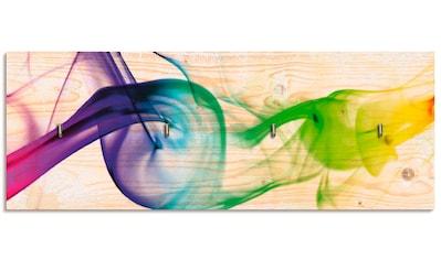 Artland Schlüsselbrett »Rauch - Abstrakt«, aus Holz mit 4 Schlüsselhaken –... kaufen