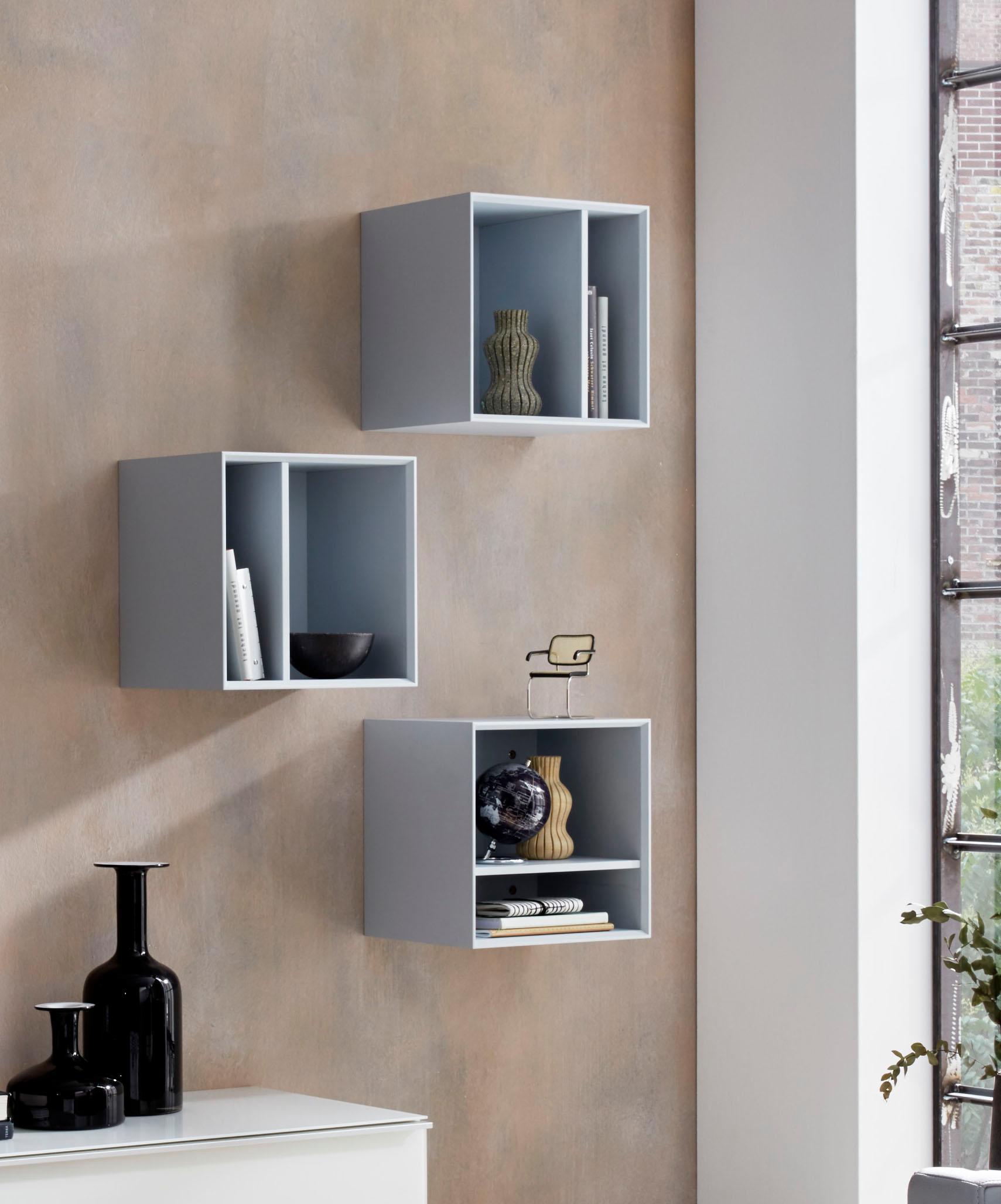 Germania Regalwürfel Larino Breite 35 cm | Wohnzimmer > Regale > Regalwürfel | Blau | Spanplatte - Sonoma - Eiche - Nachbildung - Abs | Germania