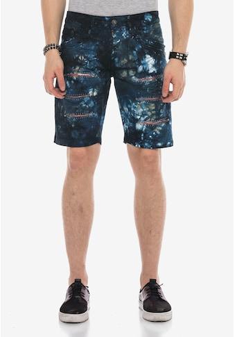 Cipo & Baxx Shorts, mit einzigartiger Batikwaschung kaufen