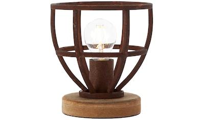 Brilliant Leuchten Matrix Wood Tischleuchte 18cm rostfarbend kaufen