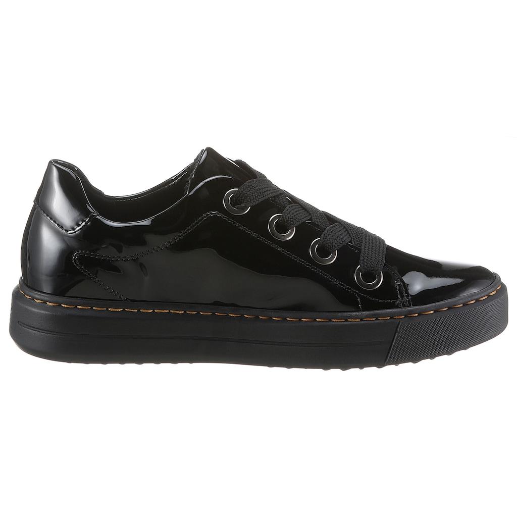 Ara Sneaker »COURTYYARD«, in glänzender Optik, Komfortweite H