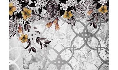 Consalnet Vliestapete »Muster mit Blumen/Beton«, floral kaufen