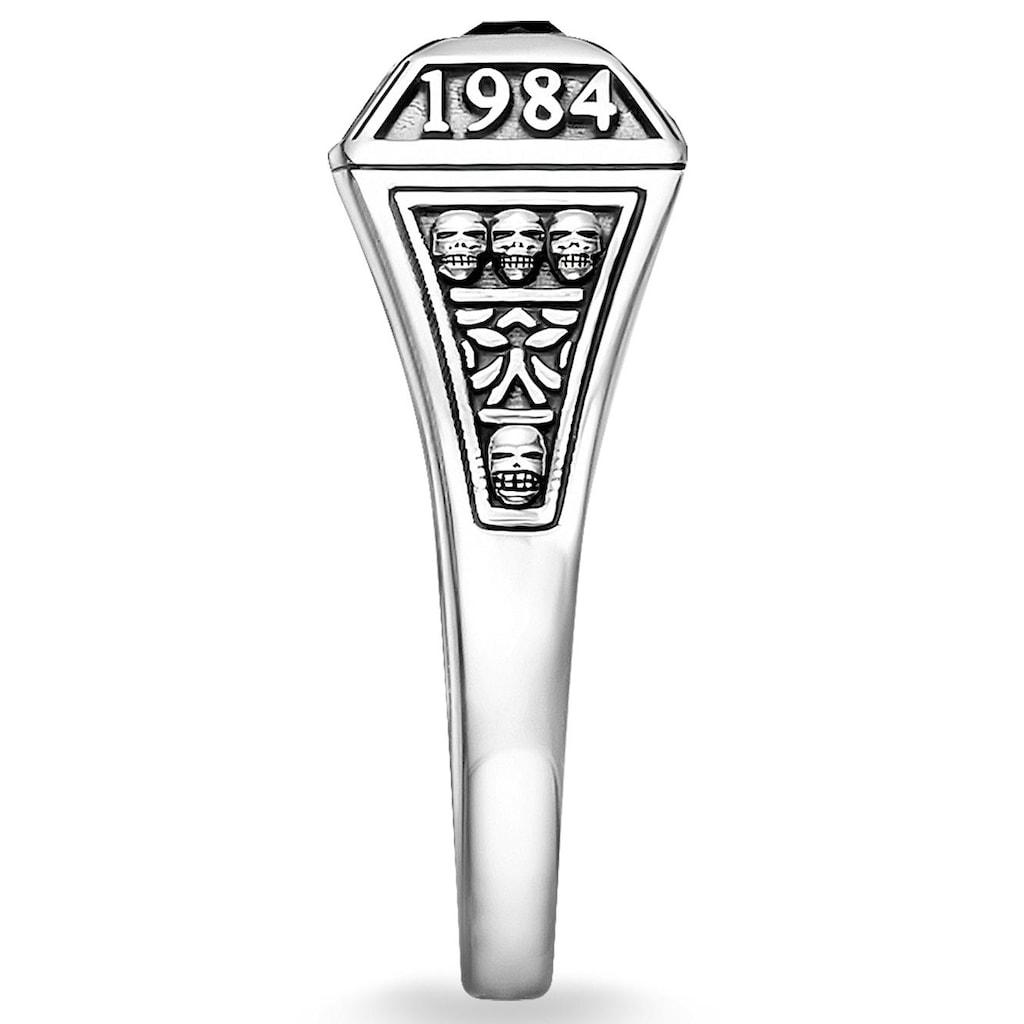 THOMAS SABO Silberring »College Ring, TR2243-698-11-48, 50, 52, 54, 56, 58, 60, 62«, mit Onyx