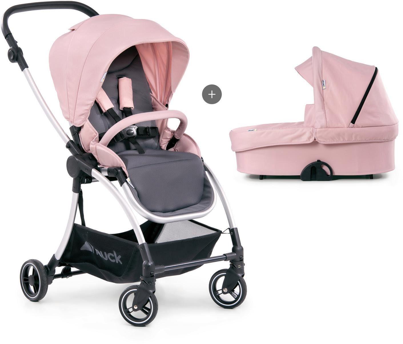"Hauck Kombi-Kinderwagen ""Eagle 4S Duoset pink/grey"" Kindermode/Ausstattung/Kinderwagen & Buggies/Kinderwagen/Kombikinderwagen"