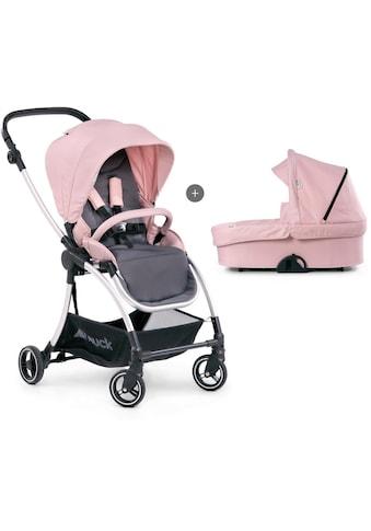 Hauck Kombi-Kinderwagen »Eagle 4S Duoset, pink/grey«, mit Babywanne, Fußsack und... kaufen