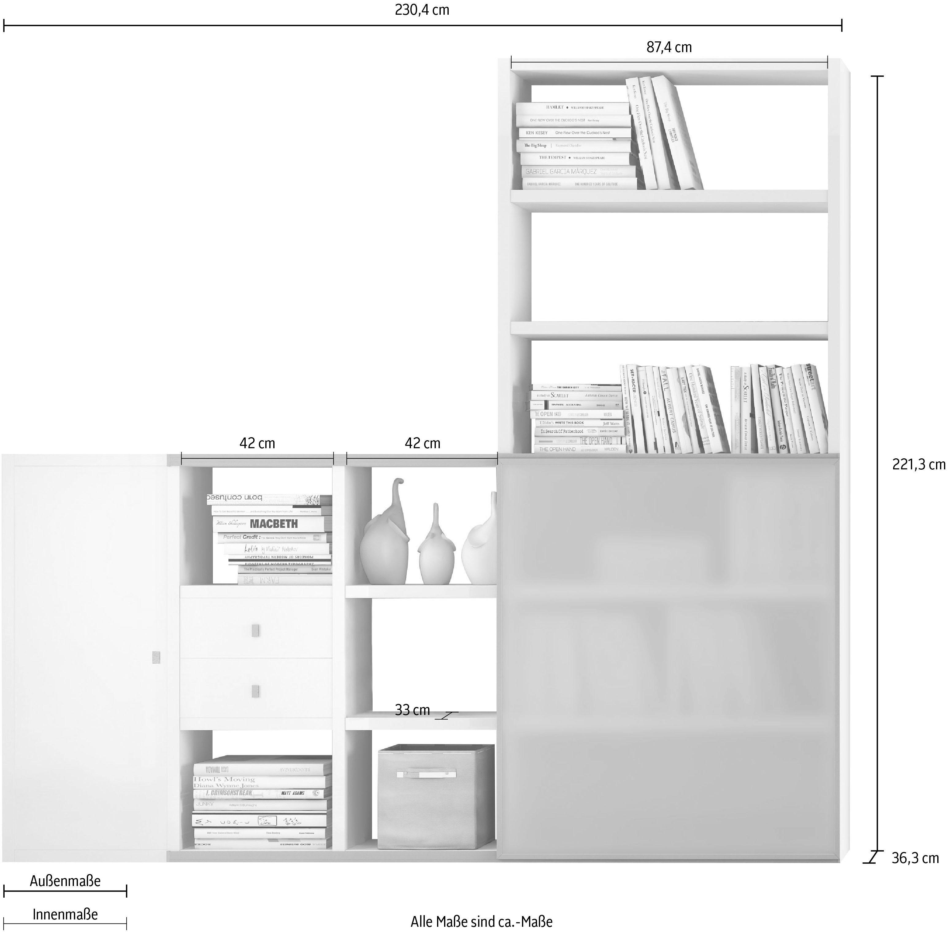 Standregal-Wohnen-Standregale-Regale-Made-In-Germany-Viel-Stauraum Indexbild 3
