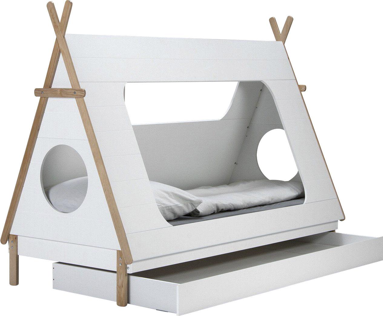 Lüttenhütt Kinderbett Dolidoo, in Zeltform, Hausbett, Zeltbett weiß Kinder Kinderbetten Kindermöbel